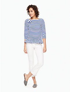 3/4 sleeve corsage tee by kate spade new york