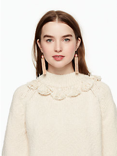 tassel cotton slub sweater by kate spade new york