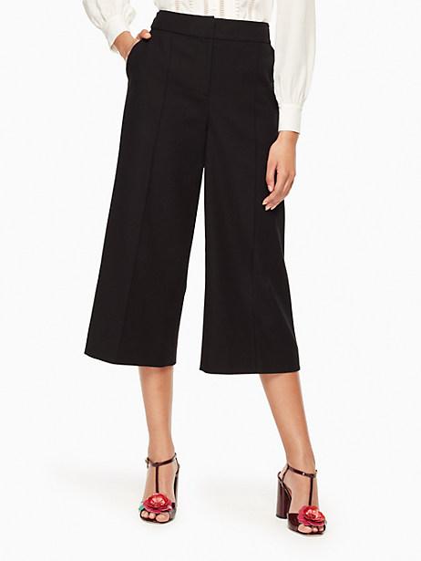 Kate Spade Stretch Twill Culotte, Black - Size 0