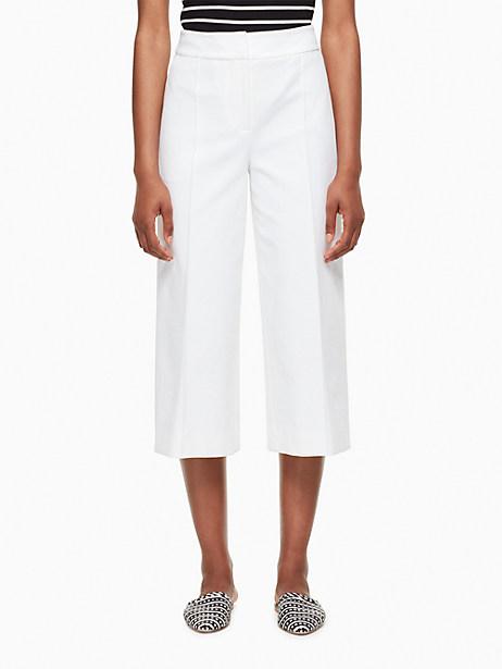 Kate Spade Stretch Twill Culotte, Fresh White - Size 0