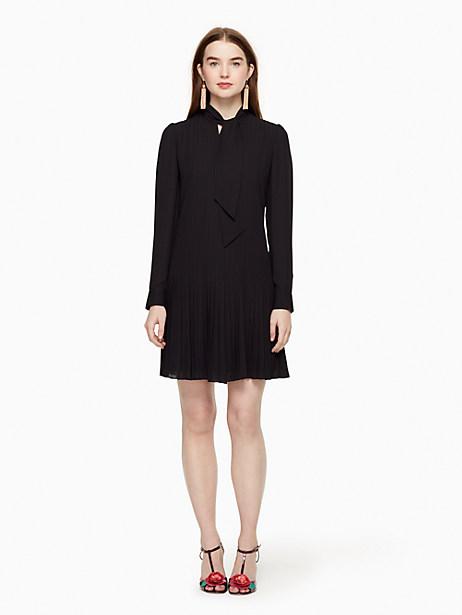 Kate Spade Pleated Georgette Dress, Black - Size 0