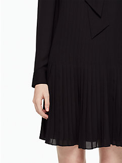 pleated georgette dress by kate spade new york
