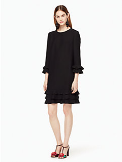 crepe ruffle shift dress by kate spade new york