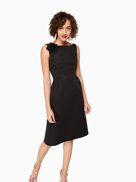 Kate Spade V-back Structured Dress, Black - Size 0