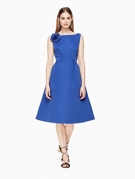 Kate Spade V-back Structured Dress, Cobalt Blue - Size 0