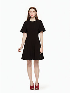 scallop crepe swing dress by kate spade new york