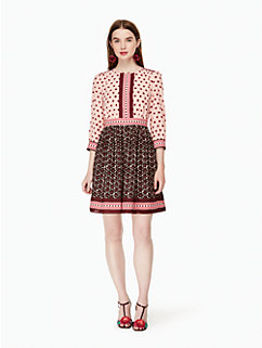 floral tile mini dress by kate spade new york