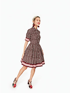 floral tile shirtdress by kate spade new york