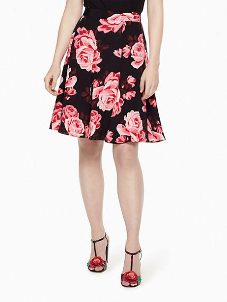 Kate Spade Rosa Crepe Skirt, Black - Size 0