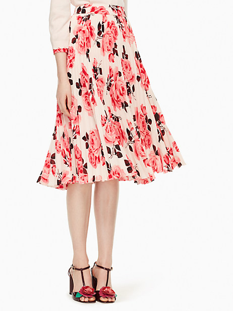 Kate Spade Rosa Pleated Skirt, Pink Sand - Size 0