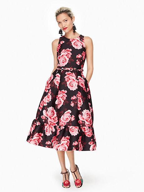 Kate Spade Rosa Flounce Dress, Black - Size 0