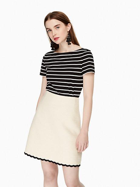 Kate Spade Scallop Tweed Skirt, Sand Dune - Size 0
