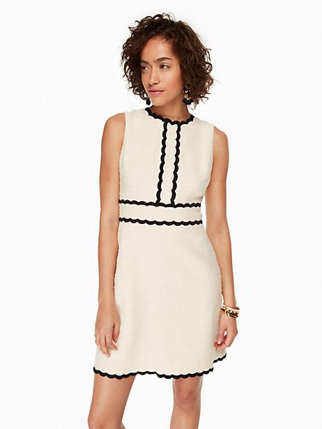 Kate Spade Scallop Tweed Dress, Sand Dune - Size 10