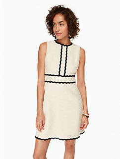 scallop tweed dress by kate spade new york