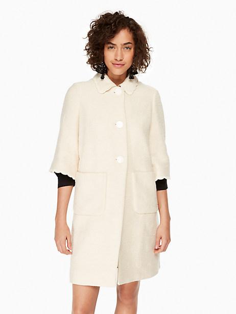 Kate Spade Textured Tweed Coat, Sand Dune - Size 0