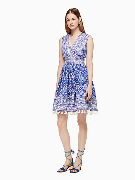 Kate Spade Trellis Ara Dress, Bohemian Blue - Size 0
