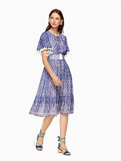 Kate Spade Trellis Nat Dress, Bohemian Blue - Size 0