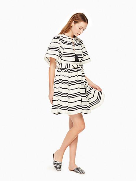 Kate Spade Bea Stripe Talita Dress, Cream/Black - Size 0