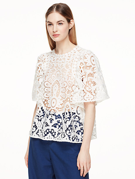 Kate Spade Corrinne Top, Cream - Size L