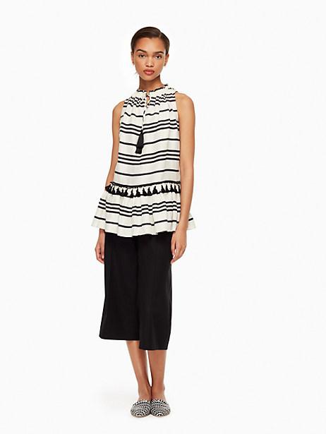 Kate Spade Bea Stripe Danila Top, Cream/Black - Size L