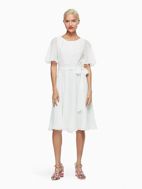 Kate Spade Clipped Chiffon Dress, Cream - Size 0