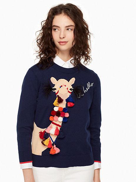 Kate Spade Camel Sweater, New Navy - Size XS