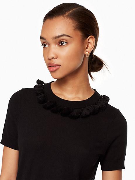 Kate Spade Tassel Sweater, Black - Size L