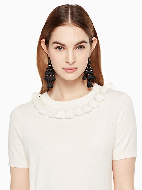 Kate Spade Tassel Sweater, Cream - Size L