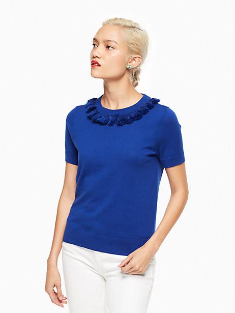 Kate Spade Tassel Sweater, Cobalt Blue - Size L