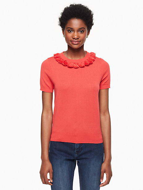 Kate Spade Tassel Sweater, Paprika - Size L