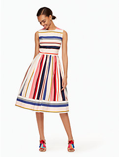 berber stripe fit and flare dress by kate spade new york