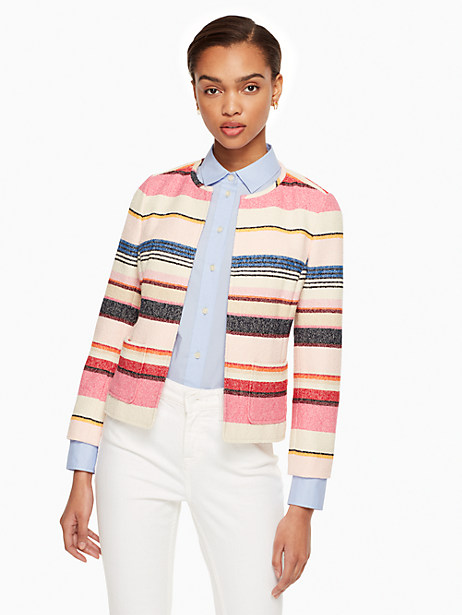 Berber Stripe Jacket, Size 16