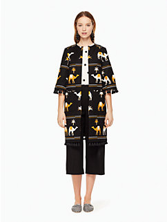 embroidered camel coat by kate spade new york