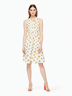 orangerie crepe tie front dress by kate spade new york