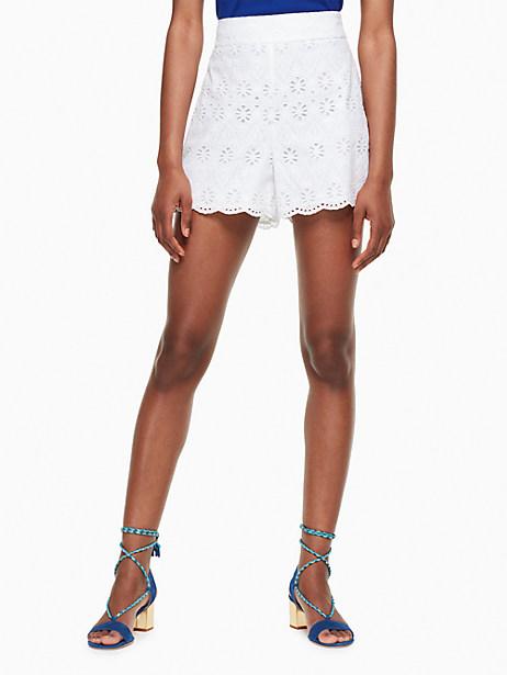 Kate Spade Eyelet Short, Fresh White - Size 0