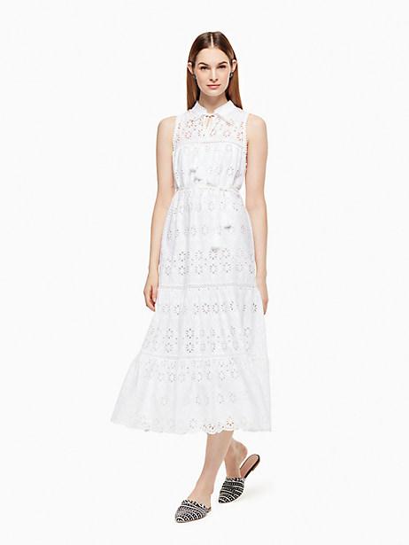 Kate Spade Eyelet Patio Dress, Fresh White - Size L