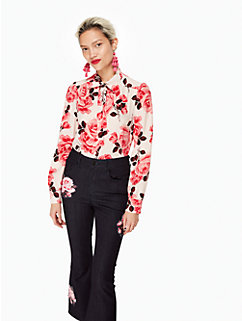 rosa tie neck shirt by kate spade new york