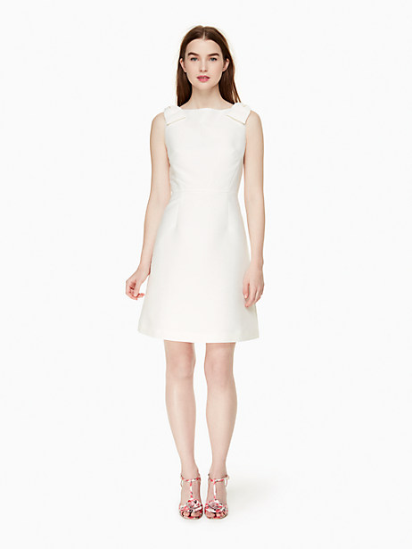 Kate Spade Double Bow A-line Dress, Cream - Size 0