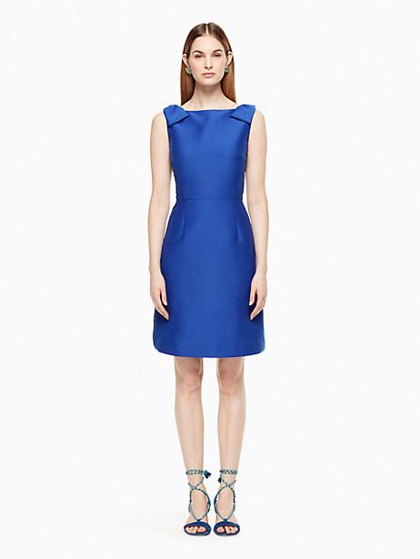 Kate Spade Double Bow A-line Dress, Cobalt Blue - Size 0