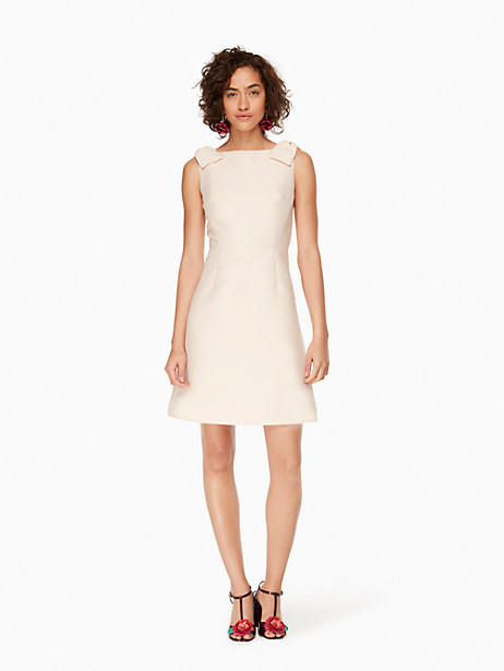 Kate Spade Double Bow A-line Dress, Pink Sand - Size 10