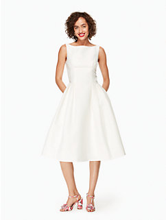 structured fit and flare dress by kate spade new york