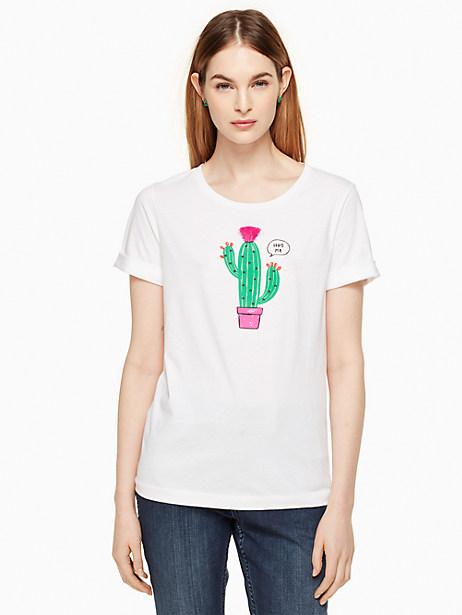 Kate Spade Cactus Tee, Fresh White - Size L