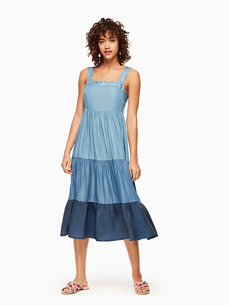Kate Spade Chambray Patio Dress, Indigo - Size L