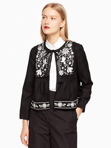 Embroidered Jacket, Black - Size L