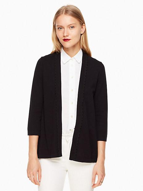 Kate Spade Open Cardigan, Black - Size L