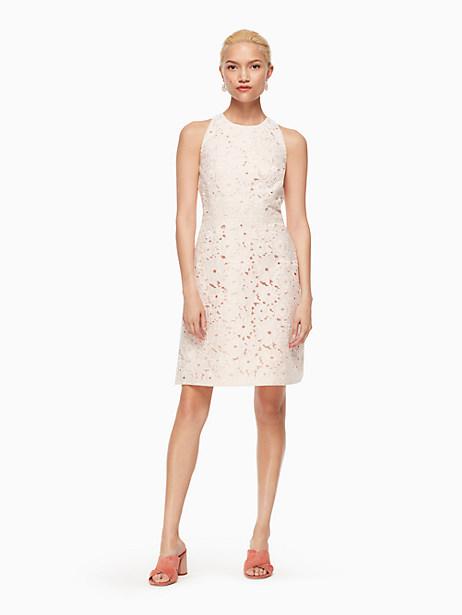 Kate Spade Floral Cutwork A-line Dress, Rose Dew - Size 0