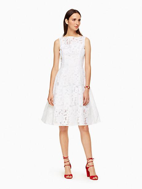 Kate Spade Floral Fil Coupe Dress, Fresh White - Size 0