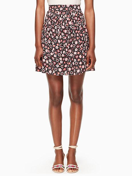 Kate Spade Mini Casa Flora Skirt, Black - Size 0