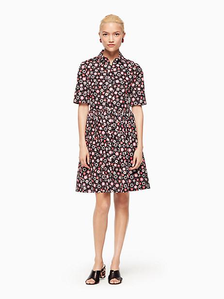 Kate Spade Mini Casa Flora Shirtdress, Black - Size 0