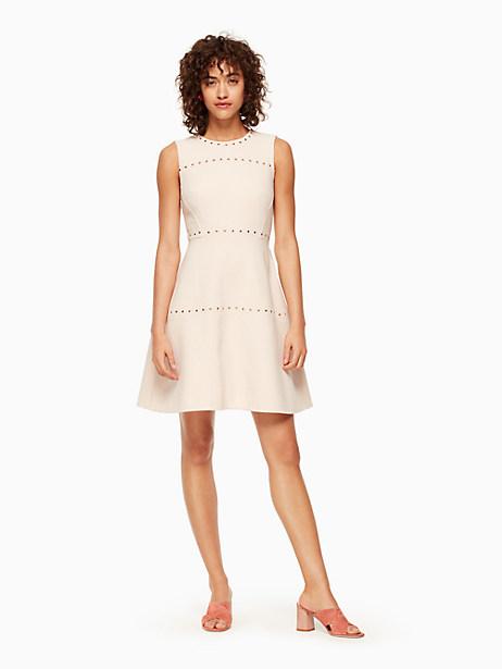 Kate Spade Studded Crepe Dress, Rose Dew - Size 0